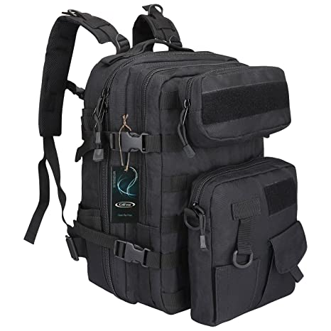 9e43699e9e00 G4Free 40L EDC Tactical Backpack Multi-Functional Outdoor Molle Bag Heavy  Duty Shoulder Pack Military Rucksack 3 Day Assault Bug Out Bag with Two  Detachable ...