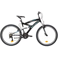 F.Lli Schiano Energy Bicicleta de suspensión Completa, Men's, Negro-Azul, 26''