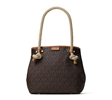 bfb6d93dcac866 Image Unavailable. Image not available for. Color: MICHAEL Michael Kors  Maritime Medium Beach Tote Brown