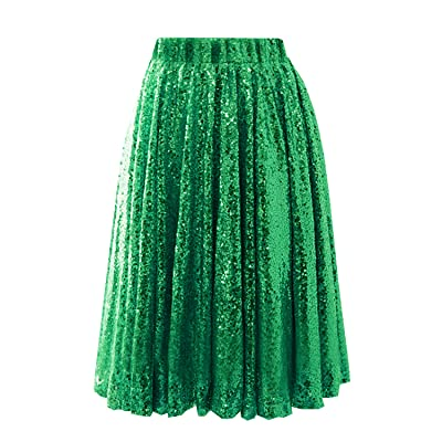 0114305887e08 214EVER Mini A-line Sequin Skirt Dress for Women and Juniors Short Party  Skirt Outfit