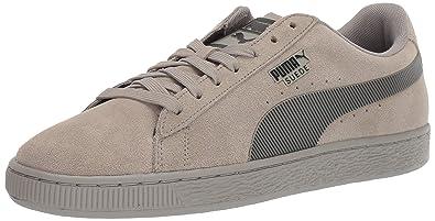 45656ed4526b PUMA Men s Suede Classic Sneaker Elephant Skin Black