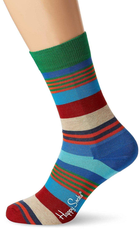 Happy Socks Multi Stripe Sock, Calzini Uomo Blu (Navy 6000) Taglia Unica MST01-6000
