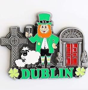Ireland Dublin Metal Fridge Magnet Unique Design Home Kitchen Decorative Travel Holiday Souvenir Gift, Stick Up Your Lists Photos on Refrigerator
