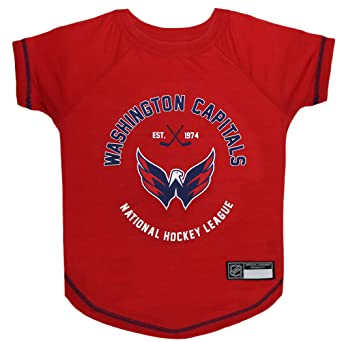 baec6a7e1ec Amazon.com : NHL Washington Capitals Tee Shirt for Dogs & Cats, Large. -  are You a Hockey Fan? Let Your Pet be an NHL Fan Too! : Pet Supplies