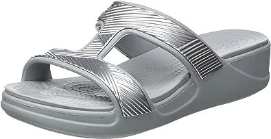 Crocs Monterey Metallic Wgfpw, Wedge Mujer