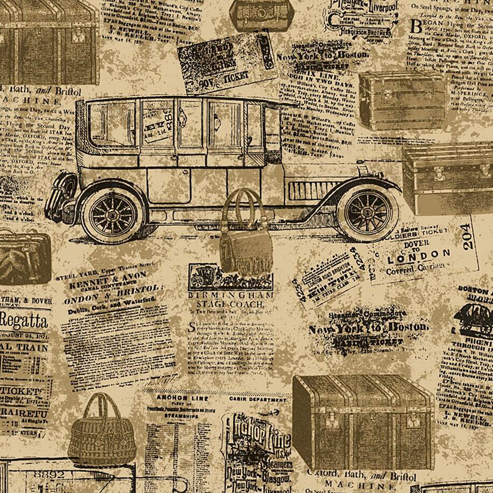 20.8 In32.8 Ft=57 Sq.ft 100-F Faux Vintage Newspaper Pattern Wallpaper Roll For Livingroom Bedroom Blooming Wall