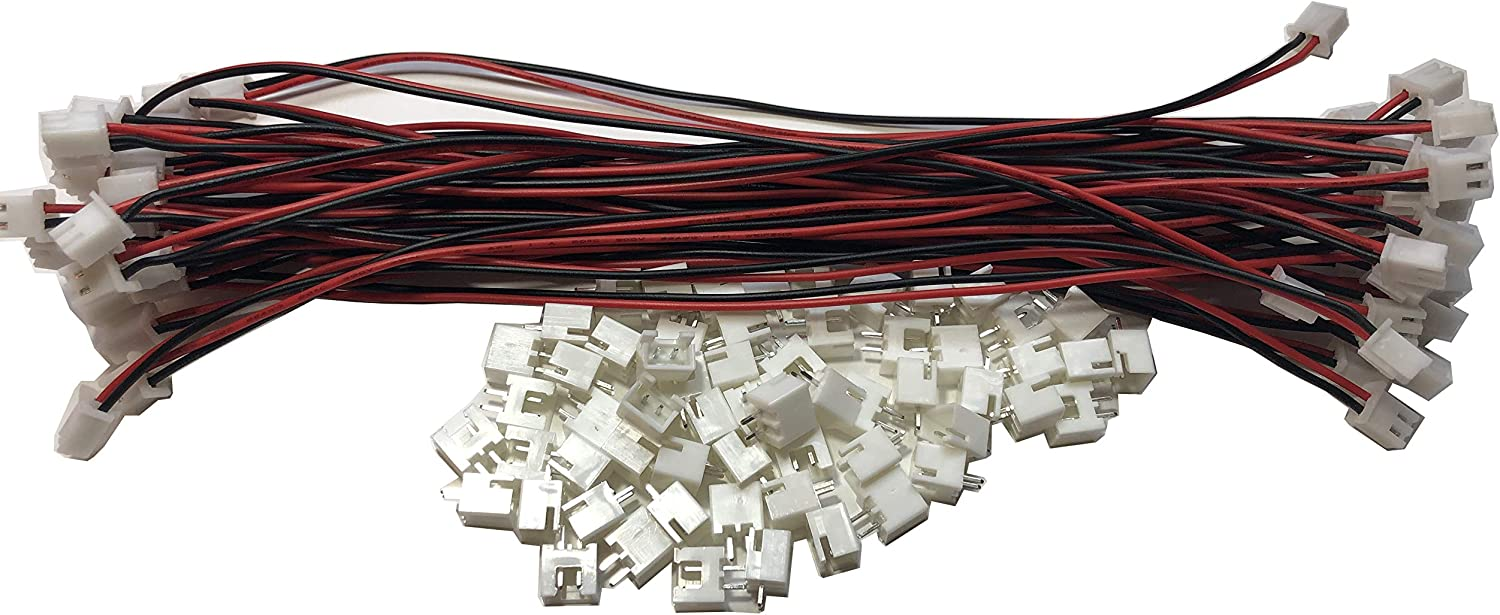 LATTECH 20 PCS 3 PIN JST XH Female Connector on One Side with Electric Wire 1007 26 AWG /& JST XH 3 PIN Male Connector 20 PCS Total Length:100MM