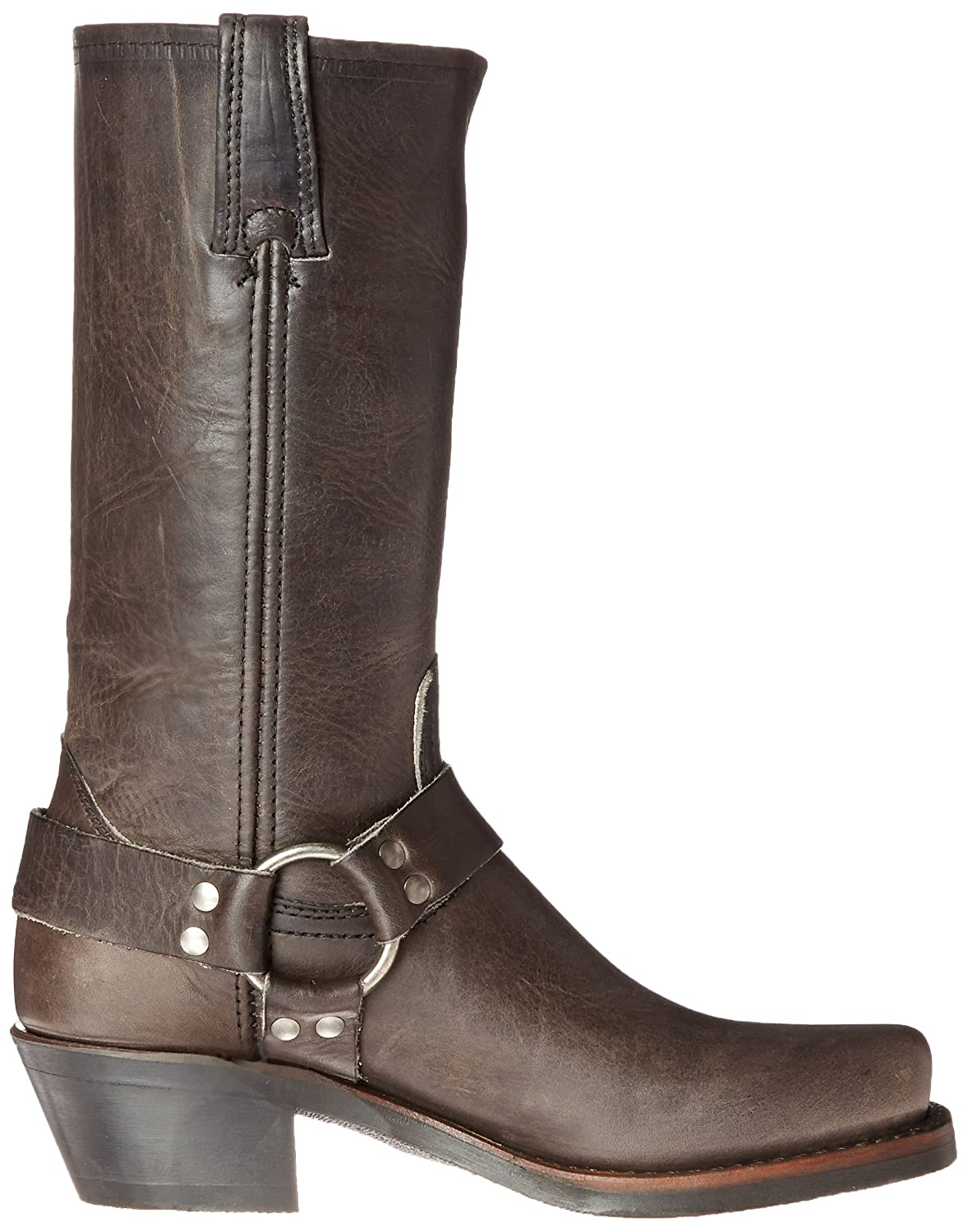 FRYE Women's 12R B(M) Harness Boot B00R54W1JM 6.5 B(M) 12R US|Smoke Washed Oiled Vintage-77298 582771