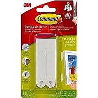 Command 17206 - Pack de 8 tiras para cuadros (grandes, hasta 7.2 kg), color blanco