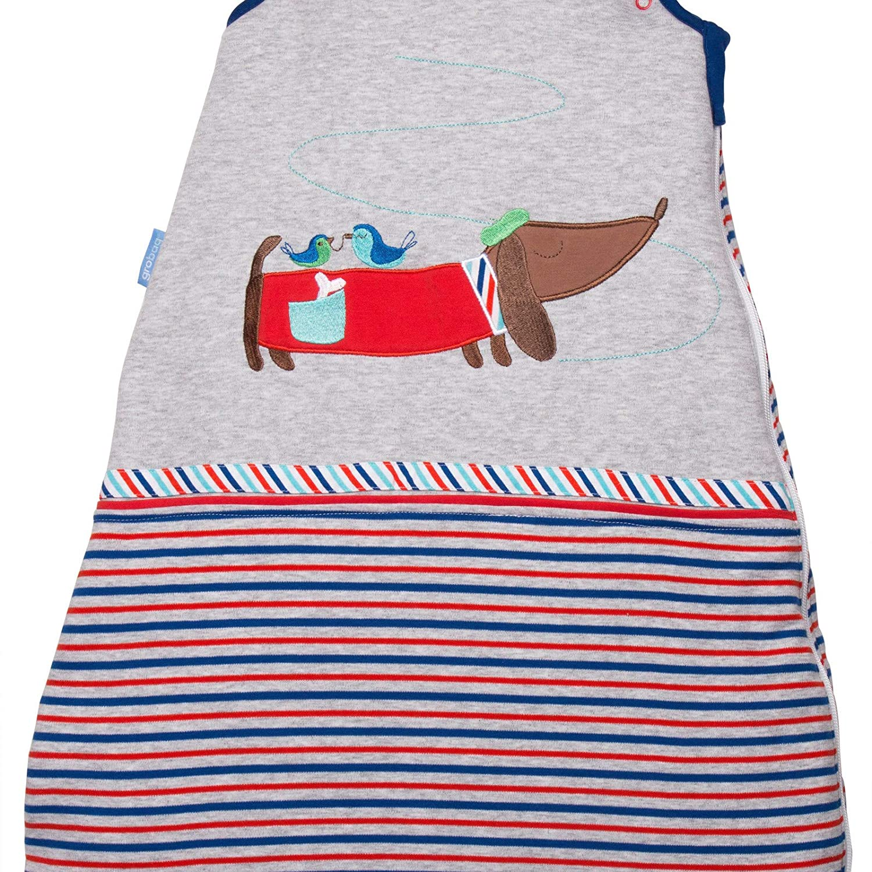 Grobag Le Chien Chic - Saco de dormir para bebé , Color gris, Talla:2,5 Tog, 18-36 meses: Amazon.es: Bebé
