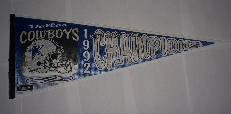 1992ダラスカウボーイズスーパーボウルXXVII 27 Championsペナント(New Old Stock 。)   B00DQ8ODII, 砂川市 550151f2