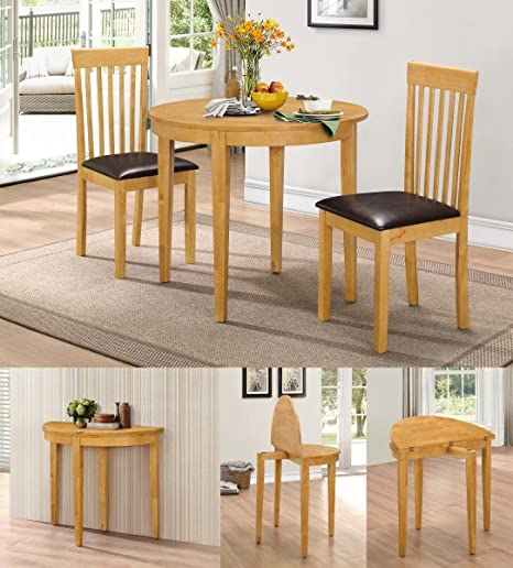 Hgg Dining Table Set With 2 Chairs Rubberwood Furniture Small Table And 2 Chairs Kitchen Table And 2 Chairs Extending Dining Table Small Round Table Amazon Co Uk Kitchen Home