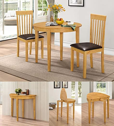 HGG Dining Table Set With 2 Chairs