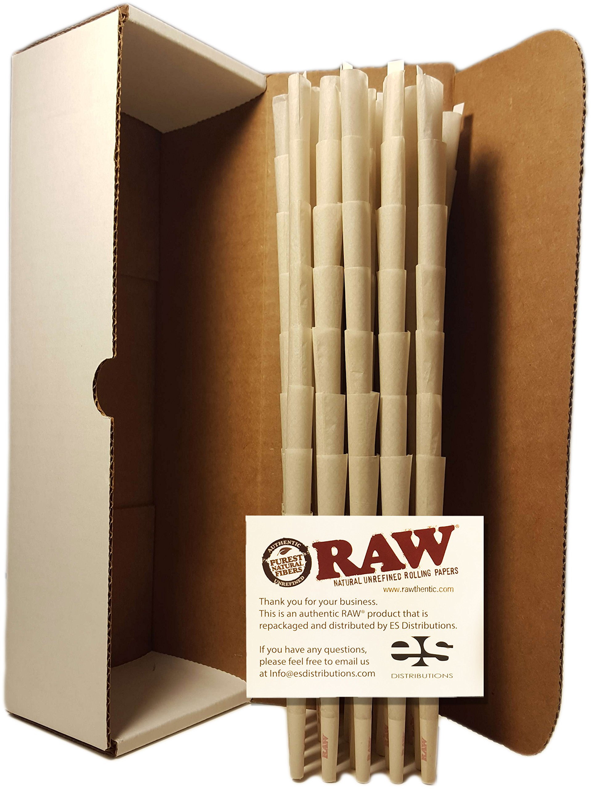 New Organic King Size RAW ® Authentic Pre-Rolled Cones With Filter (200 Pack) Pure Raw Hemp