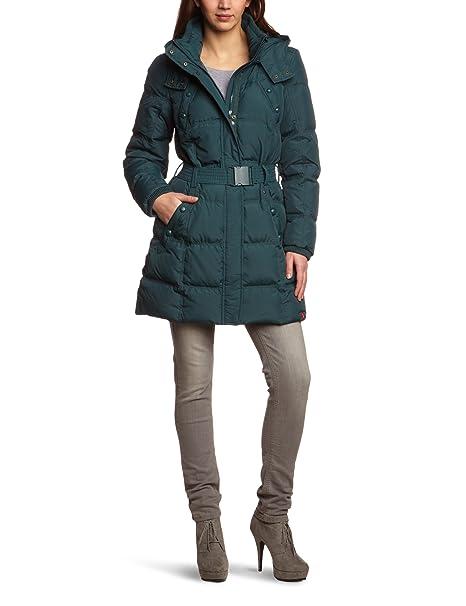 Esprit edc by Abrigo con capucha de manga larga para mujer, talla 40, color