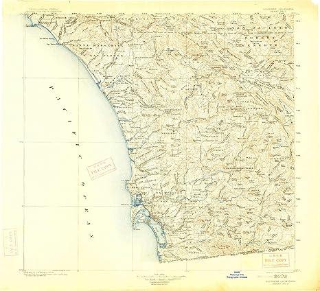 Amazon.com : YellowMaps Southern California Sheet No 2 CA topo map ...