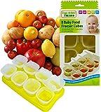 First Steps MTS Lot de 8 boîtes de congélation avec plateau pour bébé Sans BPA