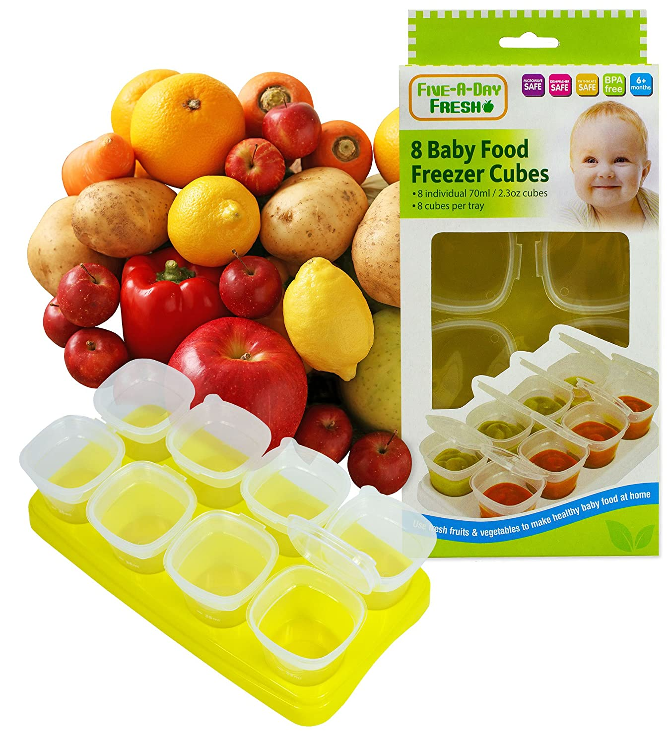 Baby Food Freezing Cubes Contaniers Pots for Freezer storage and microwave Use