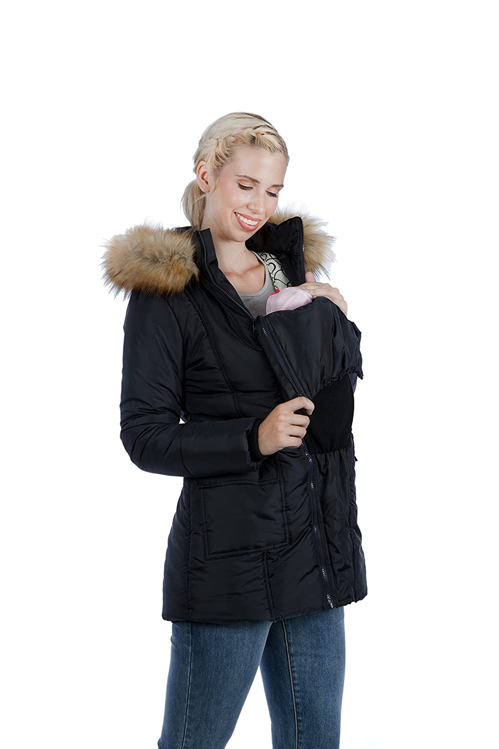 fe9a9e1ee7cd8 Modern Eternity Maternity Jacket Quilted Puffer 'Rachel (Small, Black):  Amazon.co.uk: Clothing