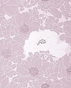Papel pintado de flores EDEM 025-24 motivo floral en lavanda pastel morado claro