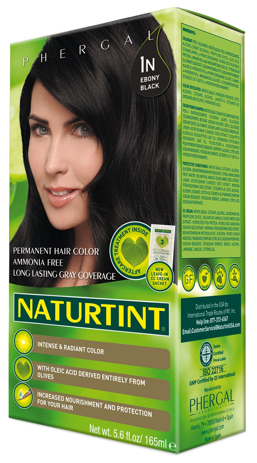Naturtint Permanent Hair Color - 1N Ebony Black, 5.28 fl oz (6-pack) by Naturtint (Image #3)