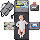 Gimars Large Capacity 6 Pockets Baby Portable Changing Pads, Waterproof & Easily Cleanable Detachable Travel Portable Diaper
