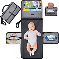 Gimars Large Capacity 6 Pockets Baby Portable Changing Pads, Waterproof & Easily Cleanable Detachable Travel Portable…