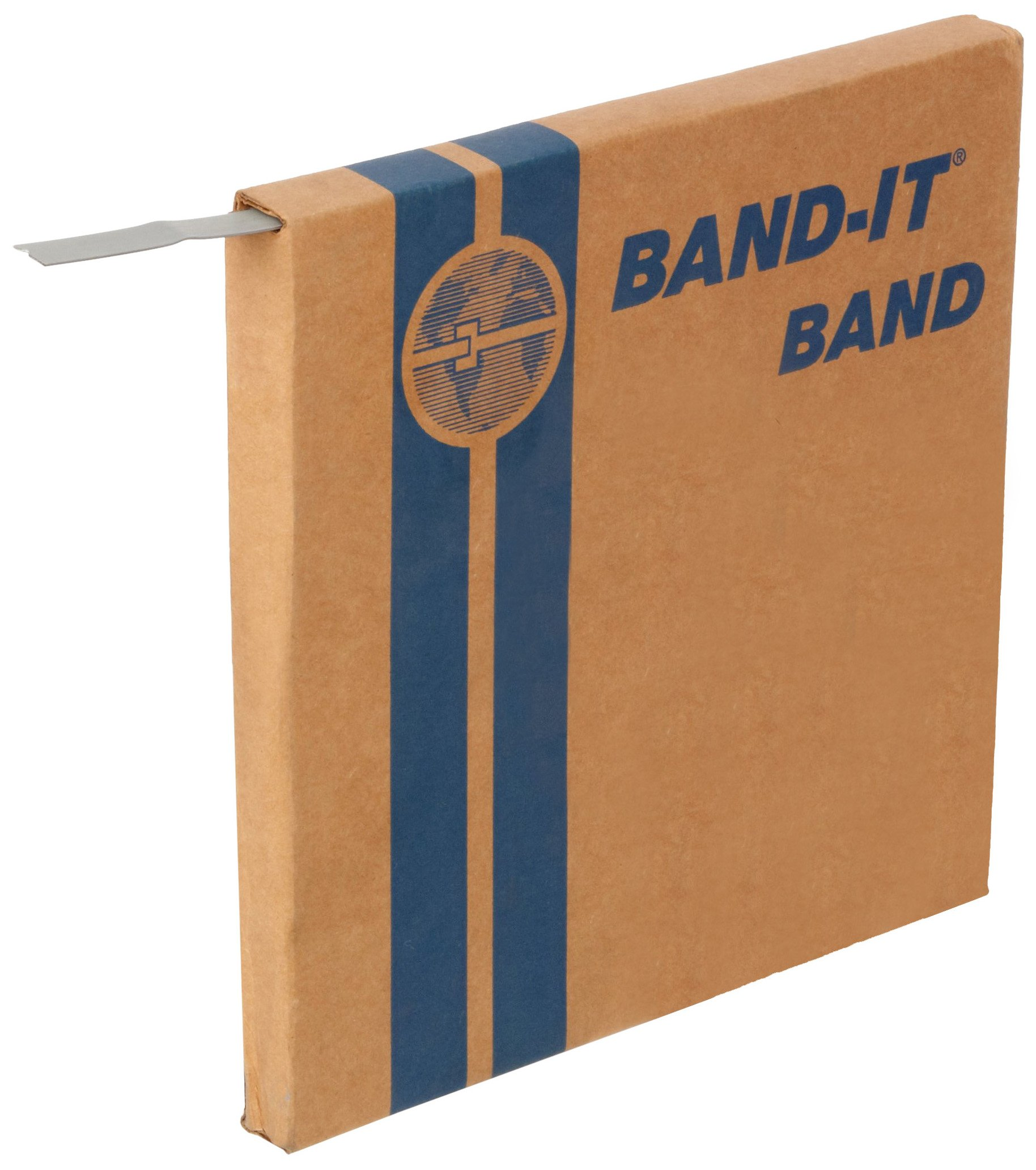 BAND-IT C20399 201 Stainless Steel Bright Annealed Finish Band, 3/8'' Width X 0.025'' Thick, 100 Feet Roll by Band-It