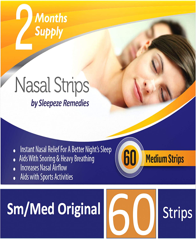 Tiras nasales mediana x60 | Dilatador nasal Sleepeze Remedies ...