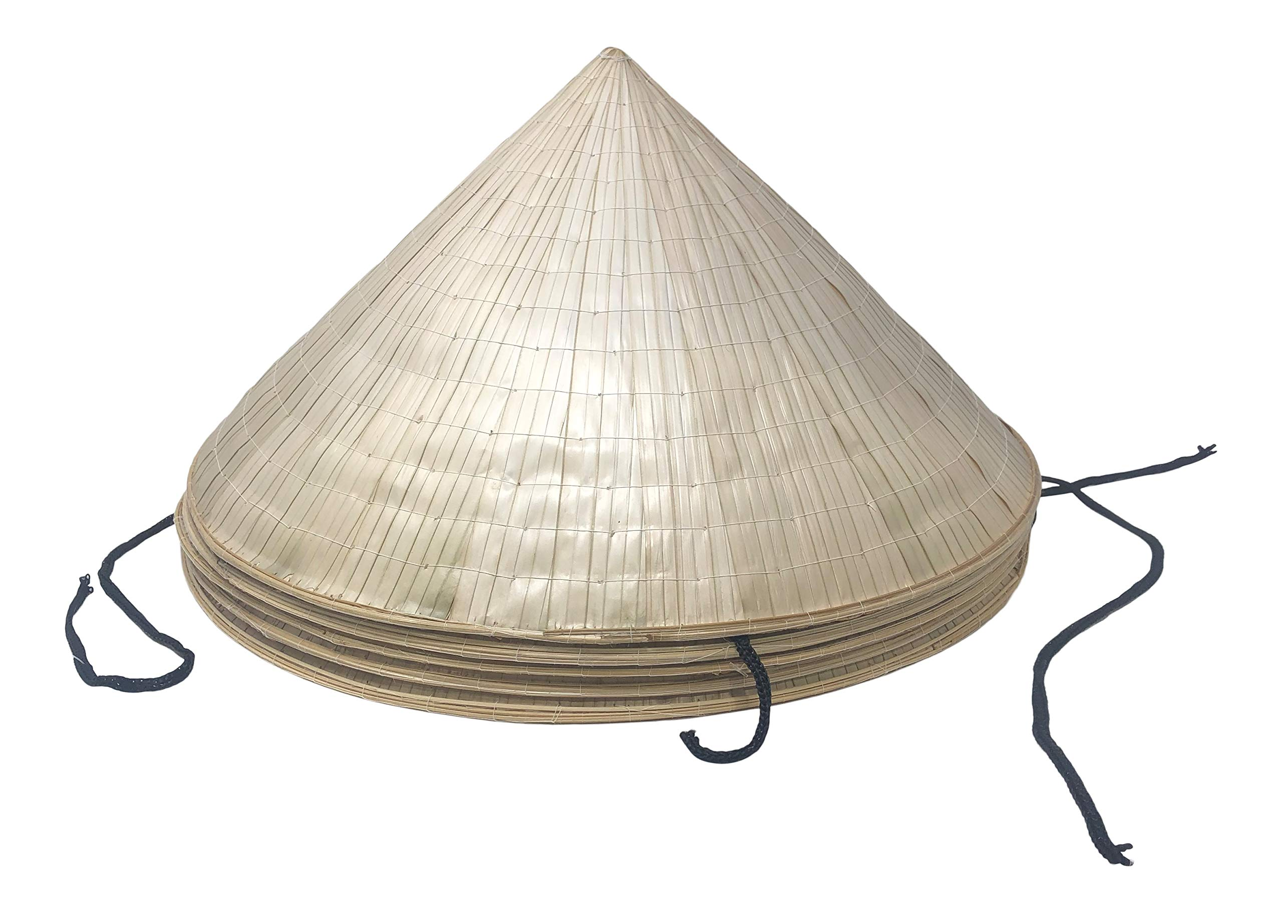Chapeau Tribe Authentic Bamboo Deluxe Coolie Hat 5 Pack