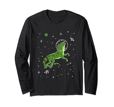 f6a650f65 Amazon.com: Iguana In Space Long Sleeve Shirt - Lizard: Clothing