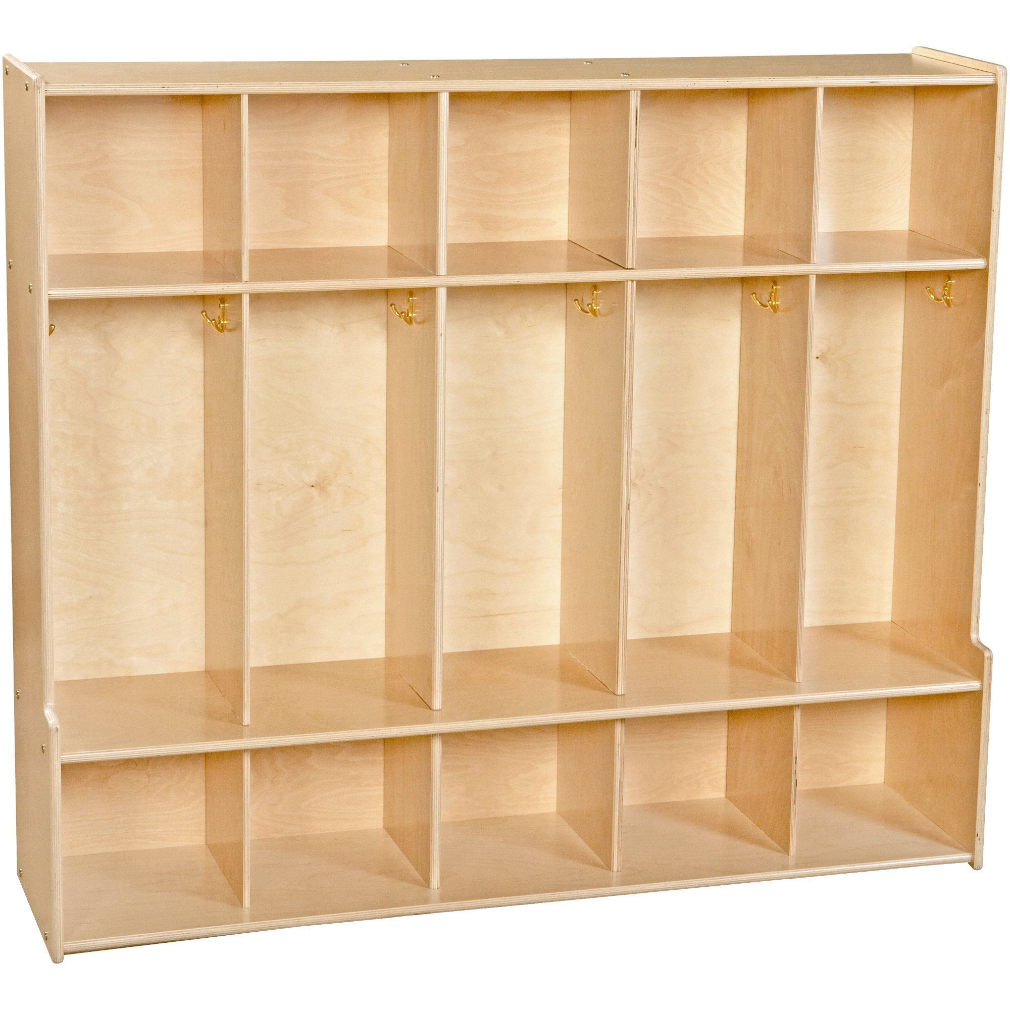 Sprogs Wooden Five-Section Locker Unit with Seat - Unassembled, SPG-4205