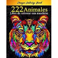 222 Animales - Libro de colorear con mandalas: Impresionantes páginas para colorear para adultos y adolescentes. Libro…