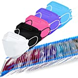 LUCIFER 4 Layer Face Mask 50 PCS, Unisex-Adult Multicolor Mask Elastic Ear Loops for Single Daily Use, High Filtration Ventil