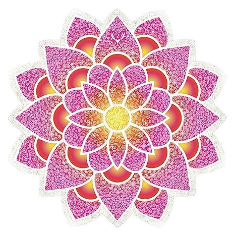 Toalla de Playa Borla, Vandot Mandala Lotus Tiro Tapiz Manta Alfombra Hippy Bohemio Gitano Mantel