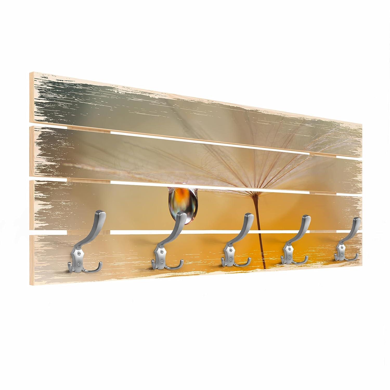Bilderwelten Perchero de Madera - Dandelion In Orange ...