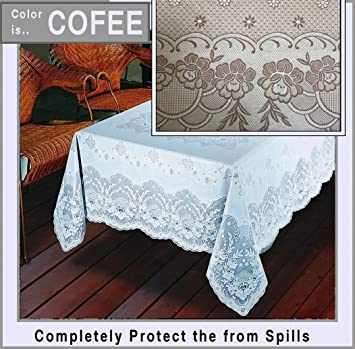 Amazon Early American Designs Now In Vinyl Lace Tablecloth