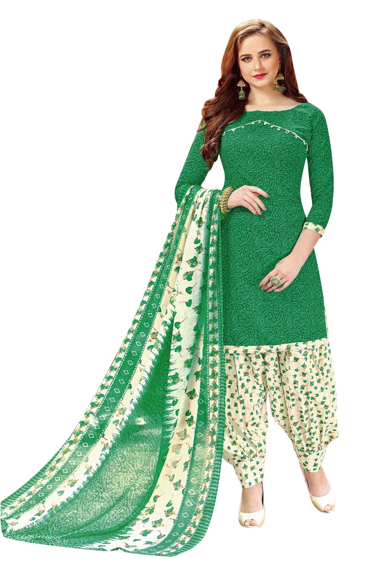 6e6173b737 Ladyline Womens Cotton Salwar Kameez Printed Patiala Salwar ...
