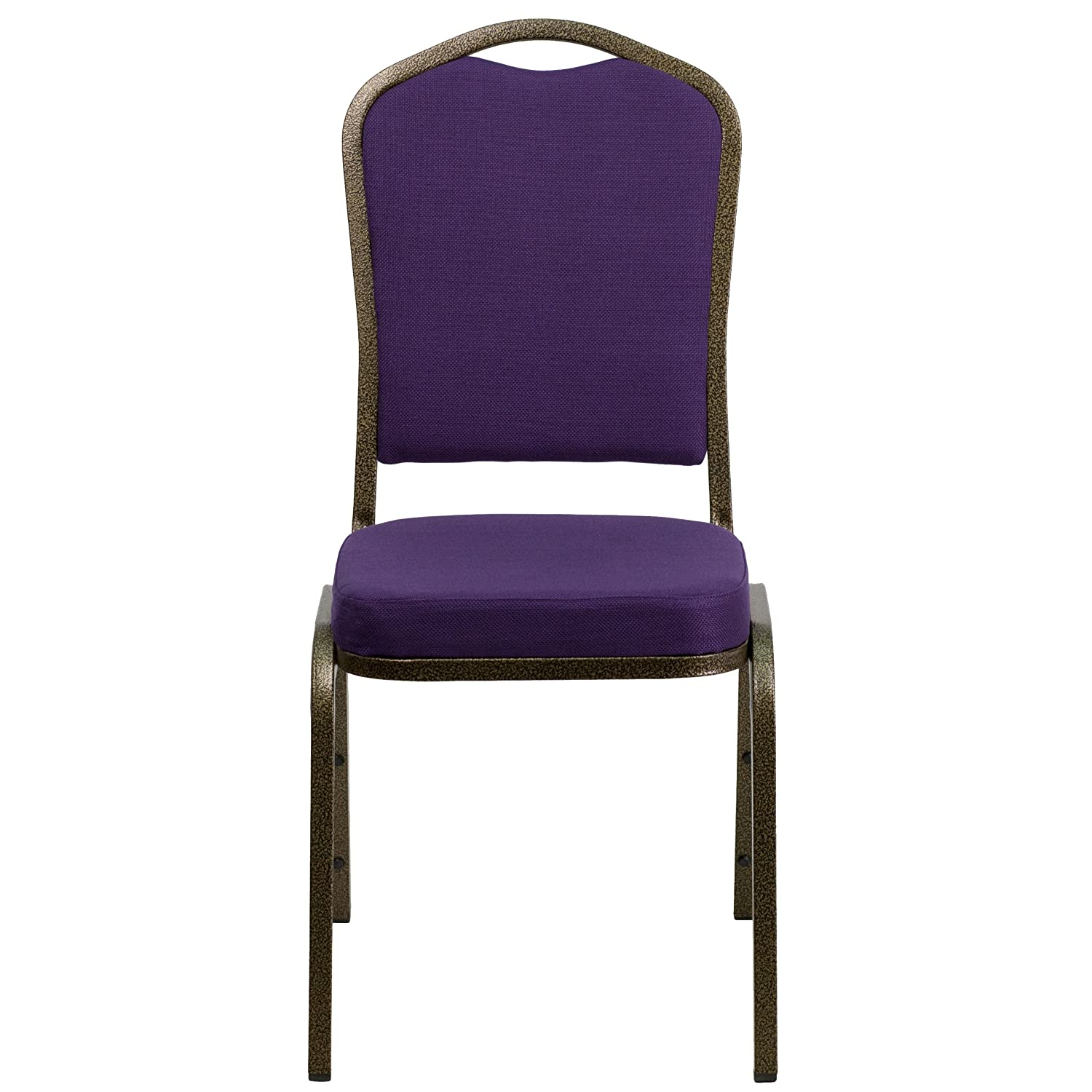 Delightful Amazon.com: Flash Furniture HERCULES Series Crown Back Stacking Banquet  Chair In Purple Fabric   Gold Vein Frame: Kitchen U0026 Dining