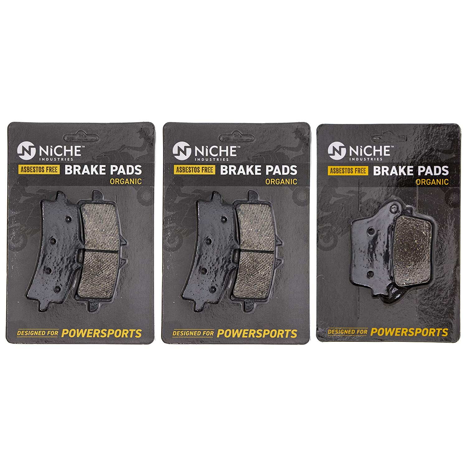 Amazon.com: NICHE Brake Pad Set For Suzuki GSXR600 GSXR750 ...
