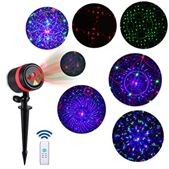 Amazon lightess laser christmas lights outdoor rgb laser light lightess laser christmas lights outdoor rgb laser light projector christmas decorations outdoor holiday landscape lighting with aloadofball Gallery