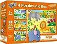 Galt 1005071 4 Puzzles in a Box - JunglePuzzle