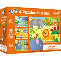 Galt Toys 4 Puzzles in a Box-Jungle, Multicolor