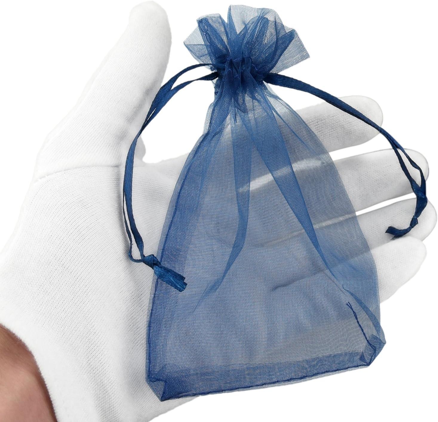 Pack de 100 FiveSeasonStuff Organza Blanc Sacs /à Cadeaux pour Favors de Mariage Bijoux F/ête danniversaire Arts et m/étiers Emballage Bonbon DIY 7cm x 9cm Petit