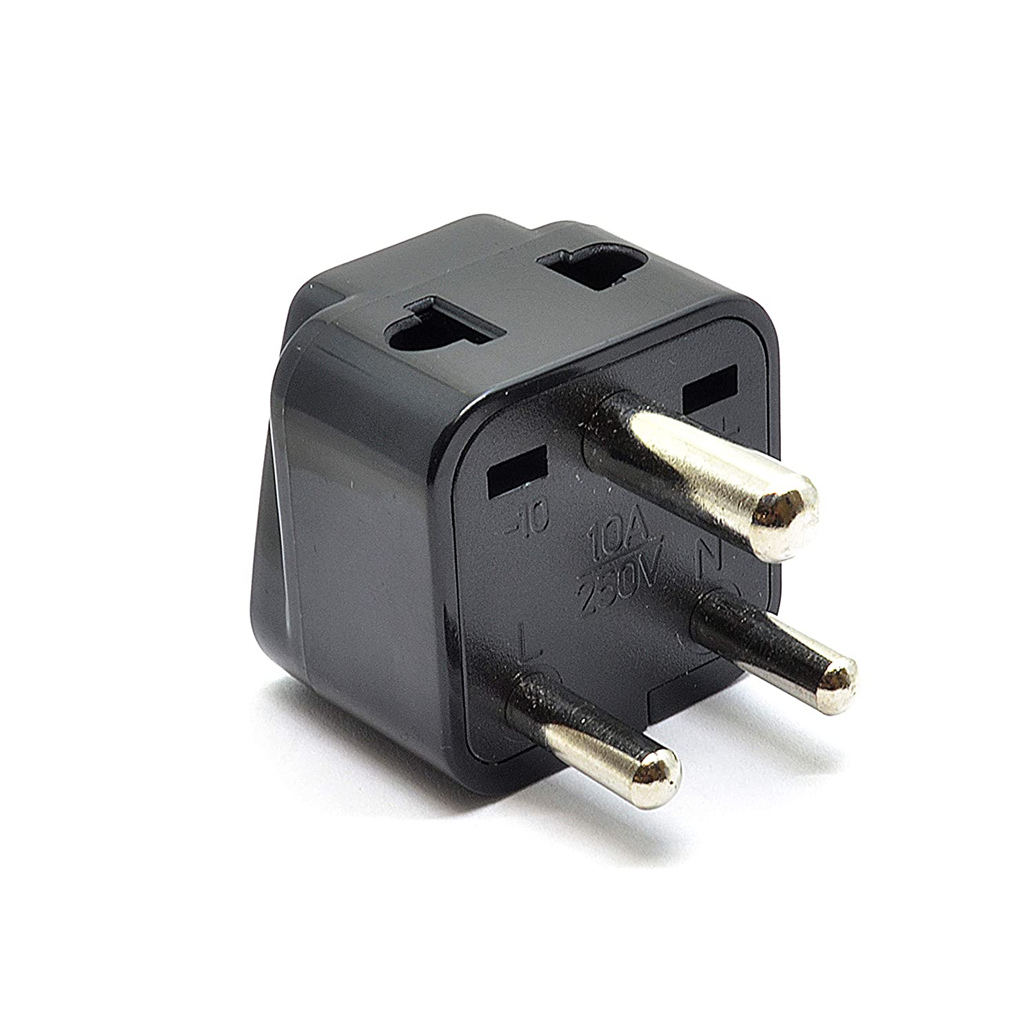 Orei 2 In 1 Usa To India Adapter Plug Type D 4 Pack Electrical Outlet Installation Atlanta Install Outlets Black Home Audio Theater