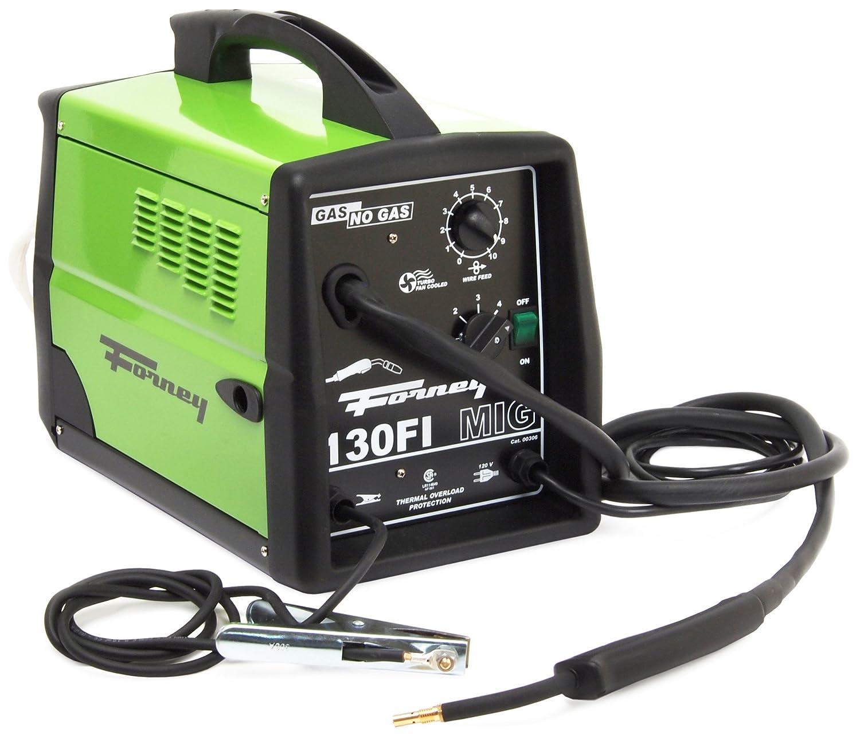 Forney 306 MIG Welder 130FI-A Flux Core Gas/No Gas, 120-Volt, 130-Amp - Gas  Welding Equipment - Amazon.com