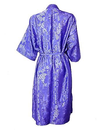 Artiwa Unisex Lightweight Silk Kimono Bathrobe for Women   Men Rose Pink at  Amazon Women s Clothing store  82296fc89