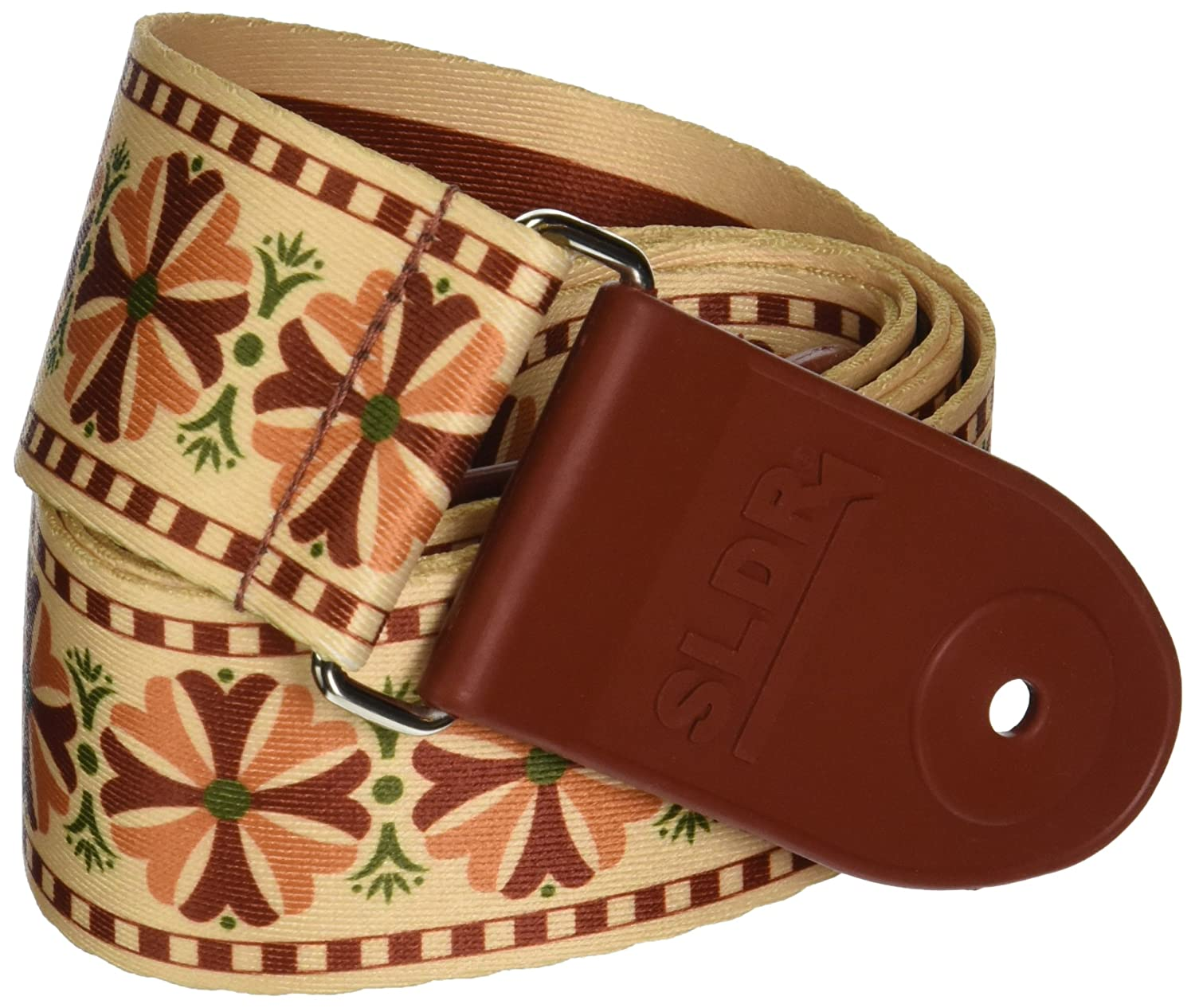 Souldier SLSTL03 SLDR Locking Guitar Strap, Stella-Tan/Burgundy/Pink