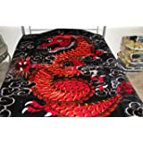 3d1ed89e14 Amazon.com  Super Soft Korean Mink Style Blanket Red Dragon Chinese ...