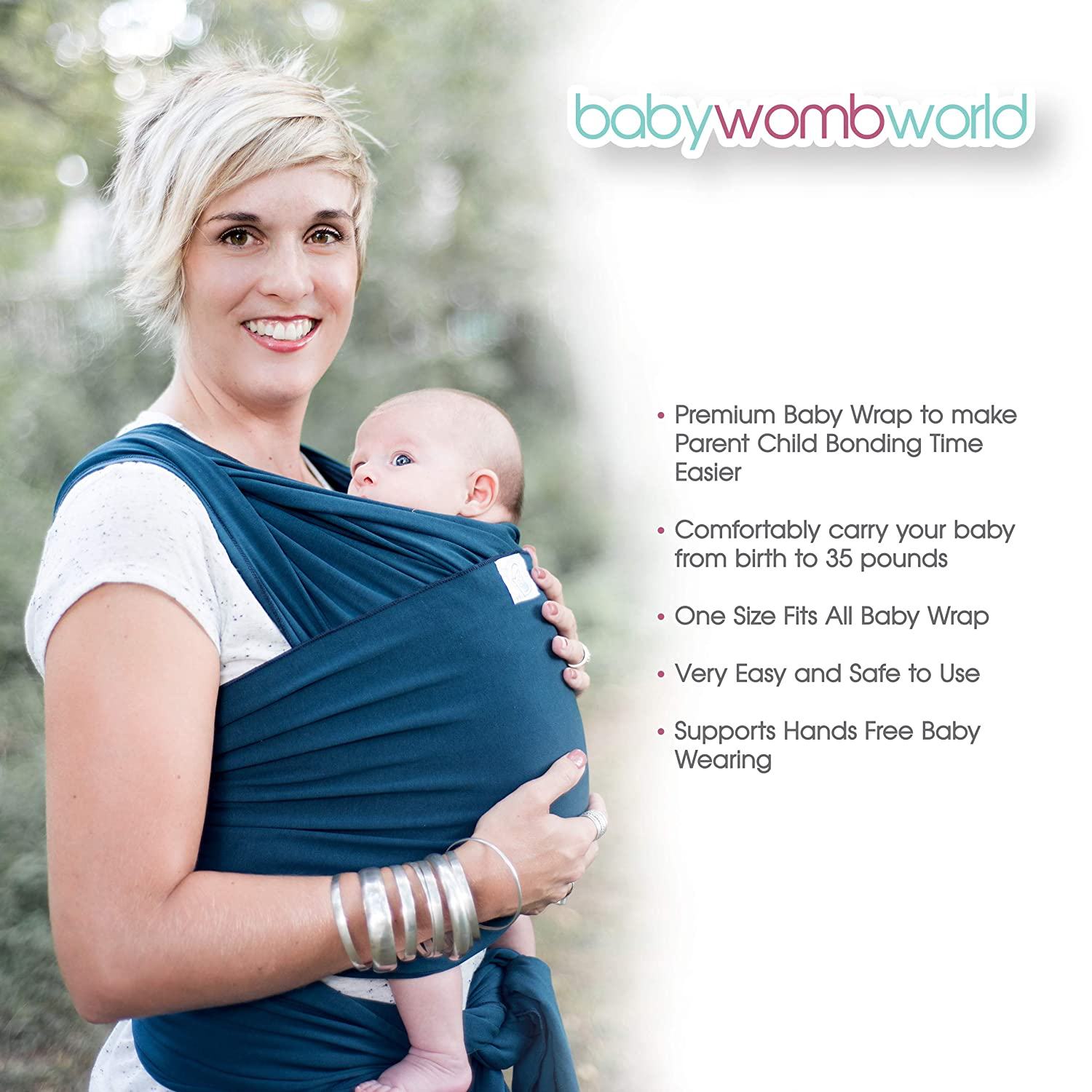 7a849850ea3 Amazon.com   Baby Wrap Carrier Newborn Sling   Extra Soft Wraps and Slings  for Safe Easy Wearing and Carrying of Babies